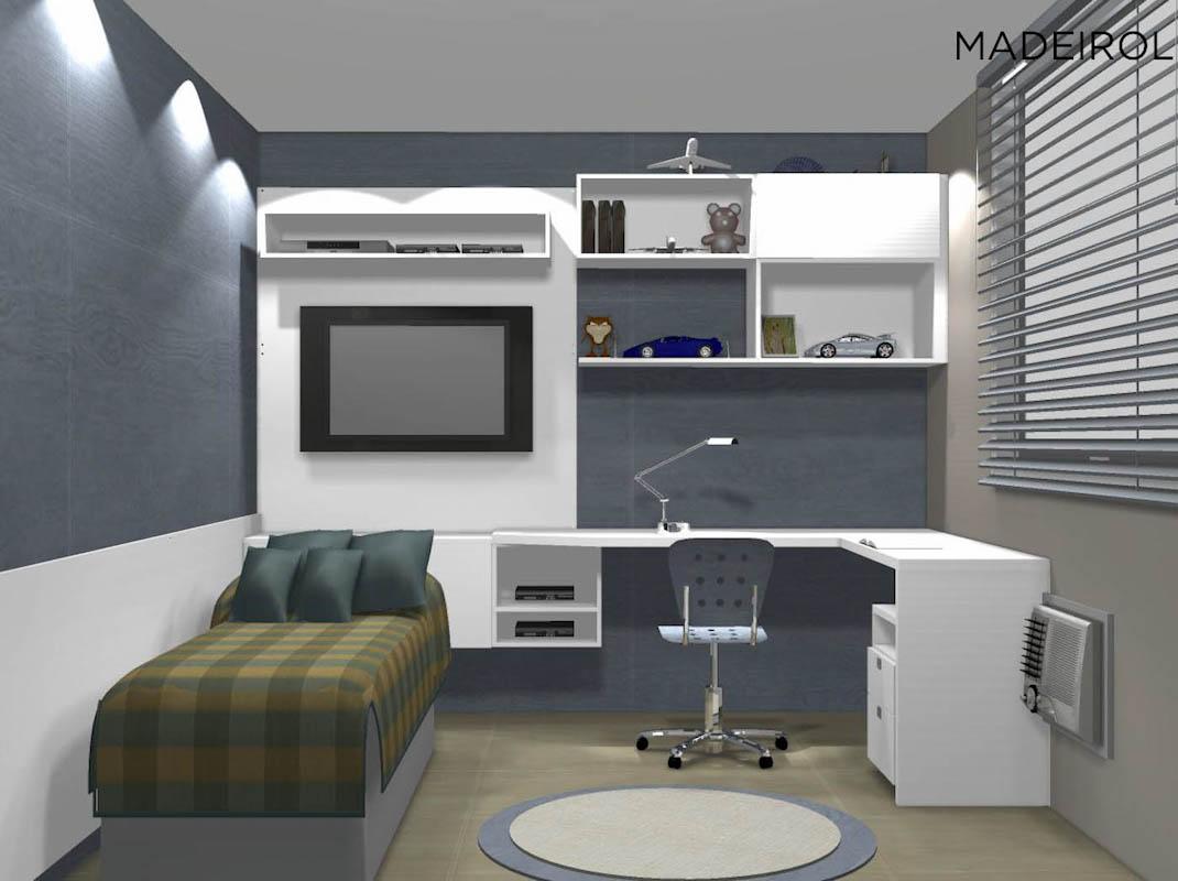 Projetos modernos de quartos para jovens Decorando Casas ~ Quarto Sala Moderno