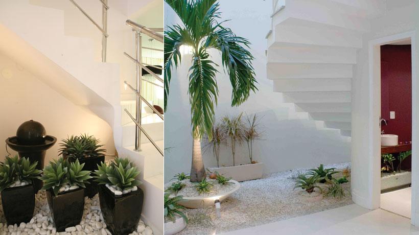 Dicas de jardim de inverno embaixo da escada  Decorando Casas