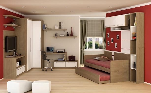 Móveis planejados para quarto infantil Decorando Casas ~ Quarto Planejado Infantil Pequeno