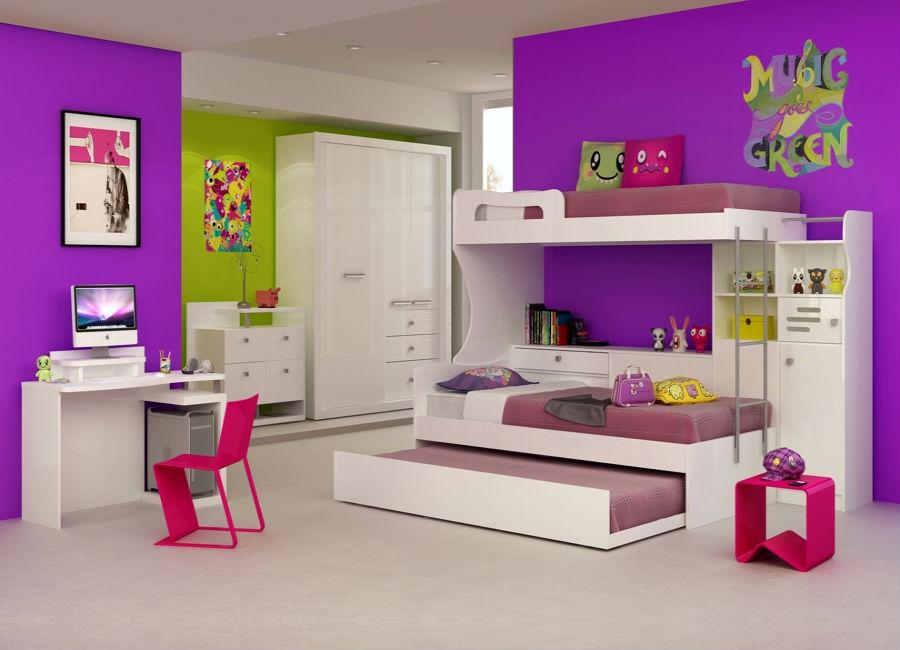Móveis planejados para quarto infantil Decorando Casas ~ Quarto Planejado Infantil Com Duas Camas