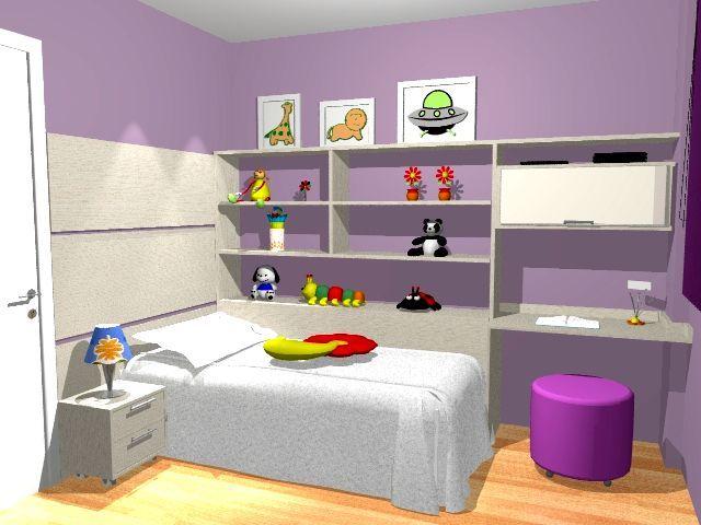 Móveis planejados para quarto infantil Decorando Casas ~ Quarto Planejado Ou Modulado