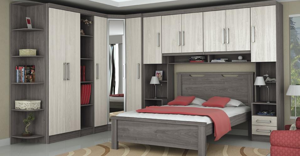 Móveis planejados quarto de casal Decorando Casas
