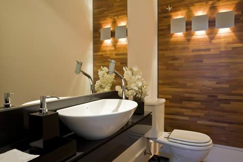 decoracao banheiro revestimento – Doitricom -> Banheiro Decorado Com Revestimento De Madeira