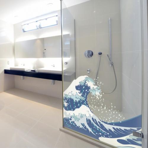 Banheiros com decoração 3D  Decorando Casas -> Decoracao Para Box De Banheiro