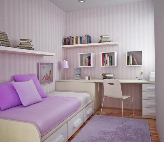 Decoração para quarto pequeno de jovens meninas  ~ Quarto Pequeno Simples