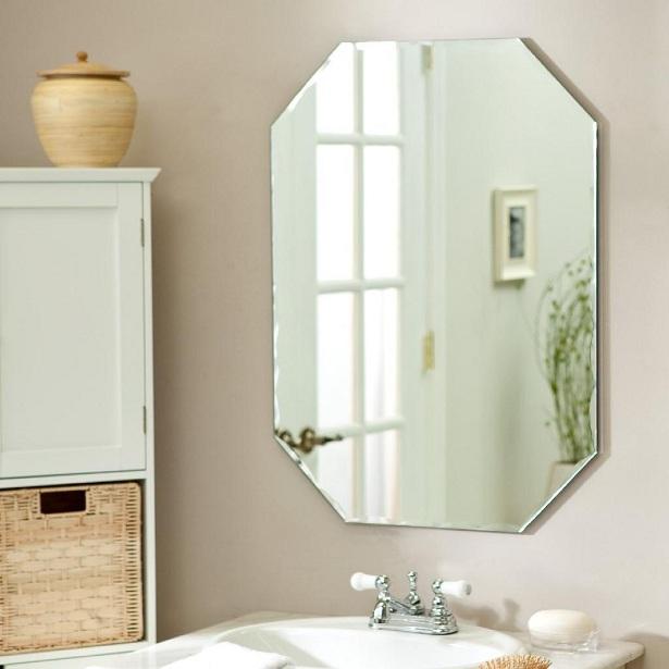 Espelhos e o seu banheiro decorado  Decorando Casas -> Banheiro Decorado Com Material Reciclavel