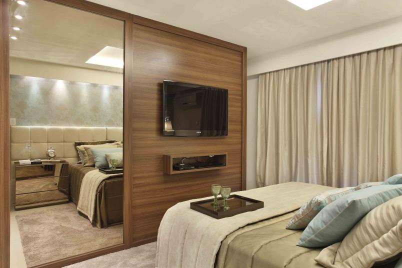 Espelhos para quarto de casal Decorando Casas ~ Quarto Planejado Com Penteadeira