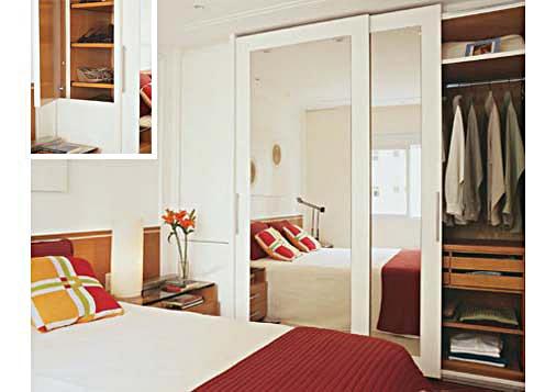 Modelos guarda roupas quarto pequeno casal  Decorando Casas -> Banheiro Pequeno Para Quarto De Casal