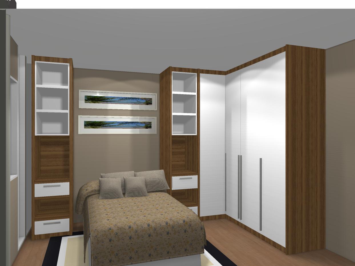 Modelos guarda roupas quarto pequeno casal Decorando Casas ~ Quarto Planejado Apartamento Pequeno Feminino