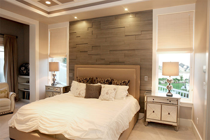 Pisos para quarto de casal decorando casas for Bed back wall design
