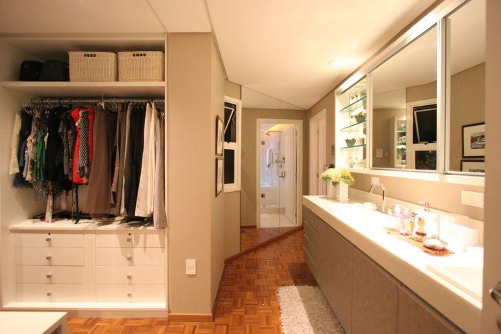 Projetos de closet com banheiro  Decorando Casas -> Closet Pequeno Com Banheiro