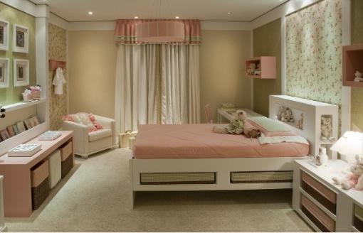 Projetos de quartos para meninas Decorando Casas ~ Quarto Verde Limao E Rosa