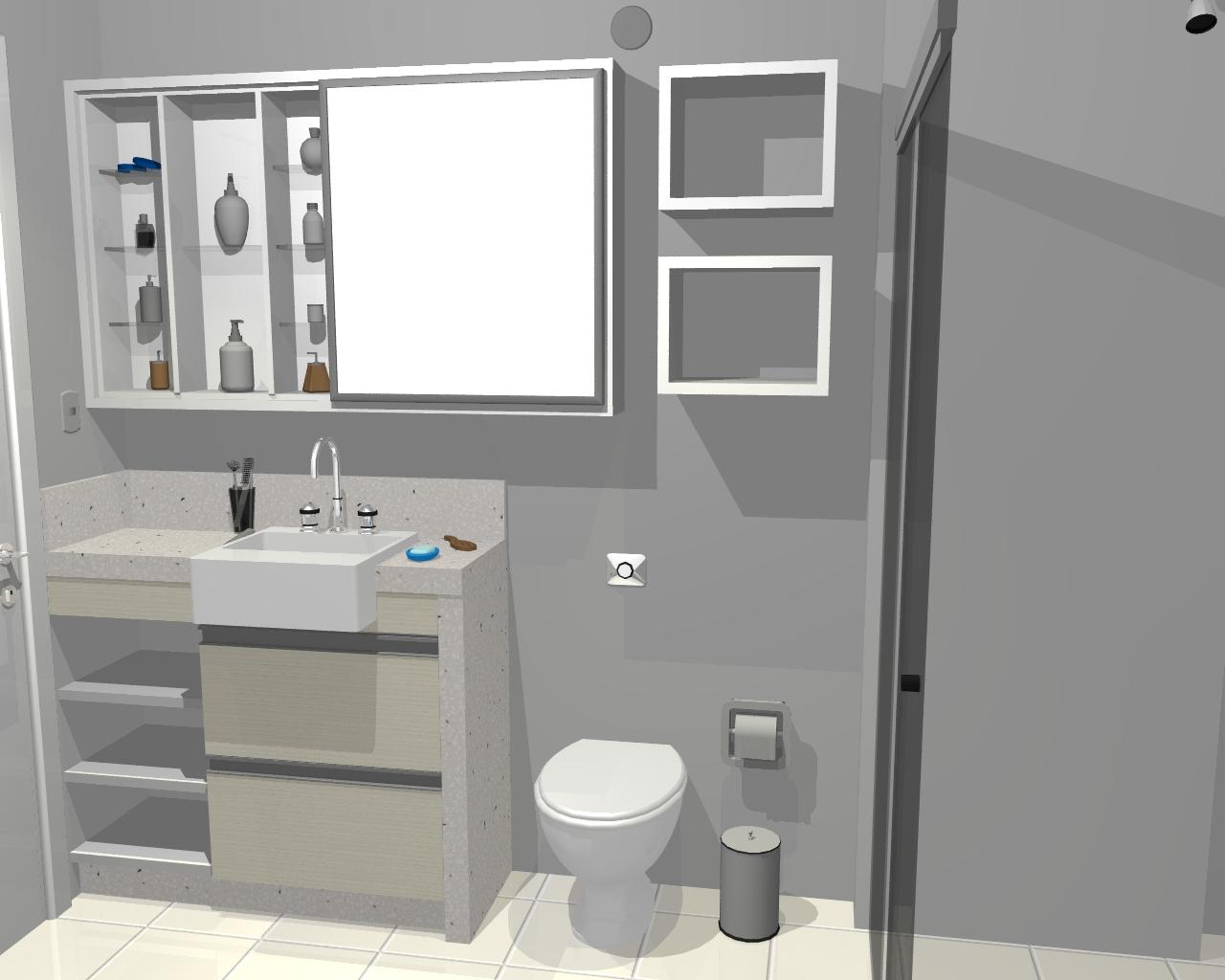 Armários com espelhos para banheiros  Decorando Casas -> Armario De Banheiro Embutido Com Espelho