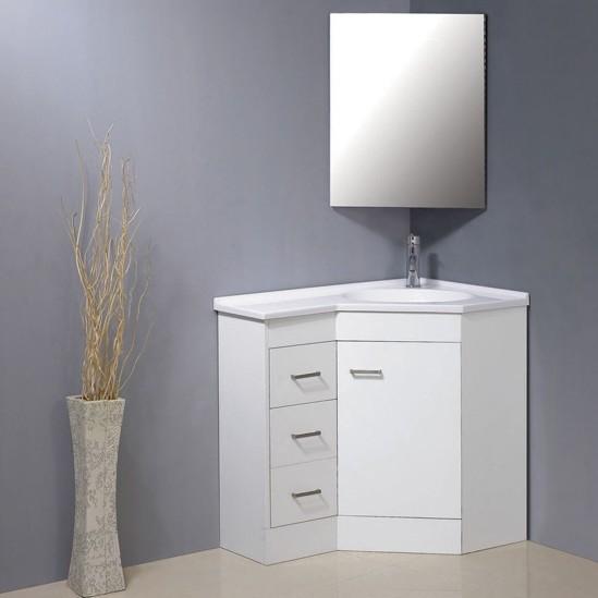 Armários com espelhos para banheiros  Decorando Casas -> Armario De Banheiro De Canto Com Espelho