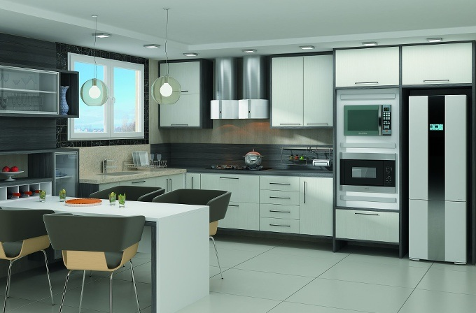 Cozinhas planejadas pequenas com janela  Decorando Casas # Cozinha Planejada Tipo U