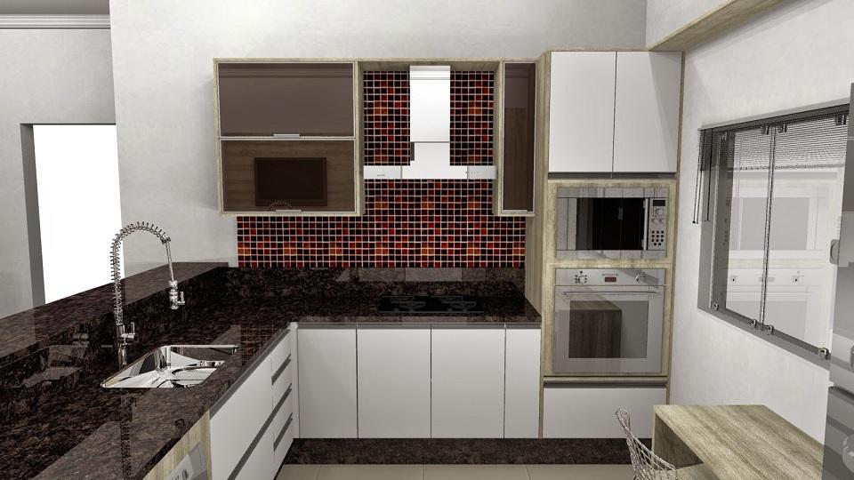 Cozinhas planejadas pequenas com pastilhas  Decorando Casas # Cozinha Simples Com Pastilha