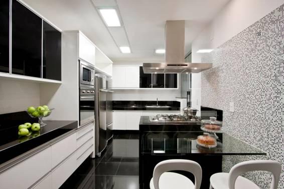 Cozinhas planejadas pequenas com pastilhas Decorando Casas