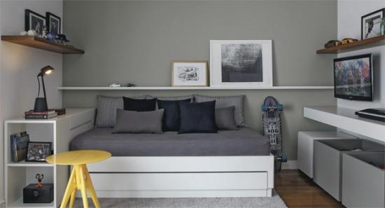 Dicas para cor de parede em quarto masculino Decorando Casas