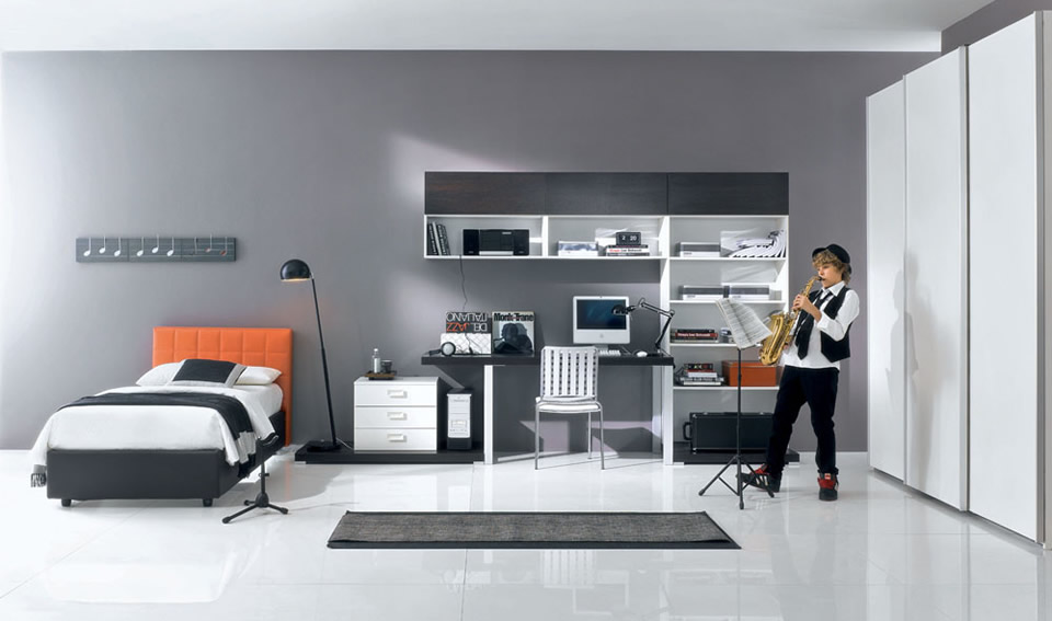Dicas para cor de parede em quarto masculino decorando casas for Boys modern bedroom ideas