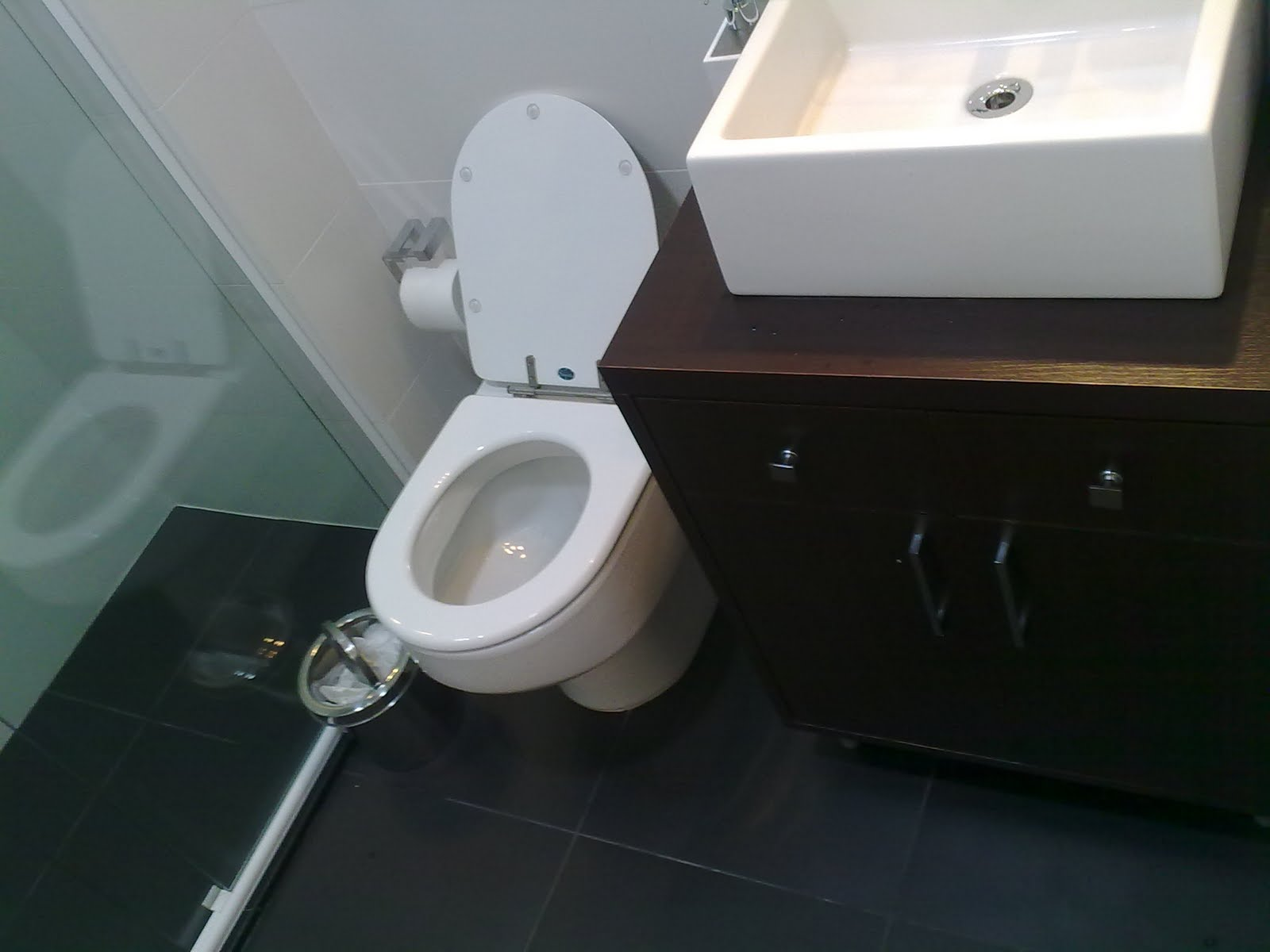Dicas de pisos para banheiro preto  Decorando Casas -> Banheiro Decorado Com Porcelanato Preto