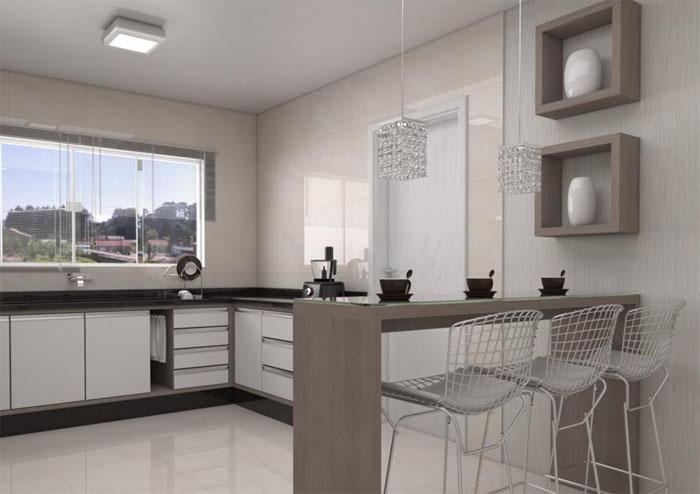 Modelos de bancadas para cozinhas planejadas | Decorando Casas