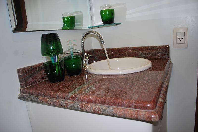 Modelos de pias em granito para banheiro  Decorando Casas -> Granito Branco Para Pia De Banheiro