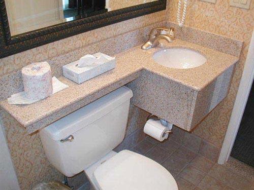 Modelos de pias em granito para banheiro  Decorando Casas -> Como Colocar Pia De Banheiro Na Parede