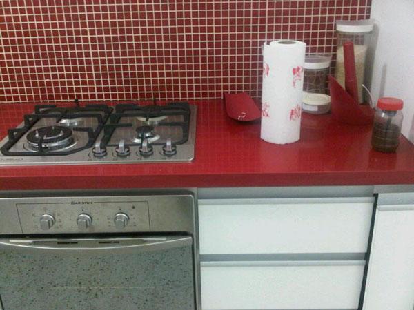 Pias de granito para cozinhas – Fotos  Decorando Casas -> Pia De Banheiro Vermelha