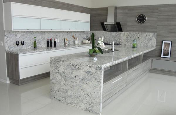 Pias de granito para cozinhas fotos decorando casas for Modelos de granitos para pisos