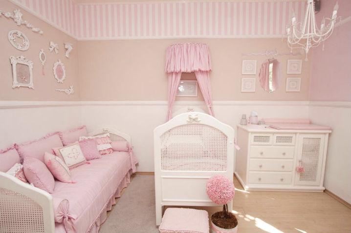 Revestimento de parede para quarto de bebê Decorando Casas