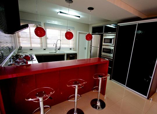 cozinha vermelha 70 # decoracao de cozinha vermelha e preta