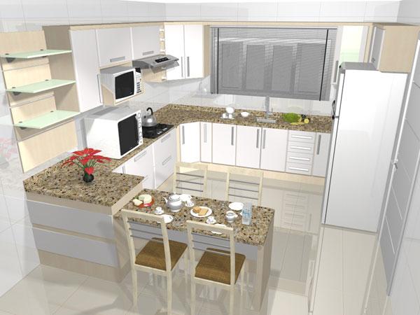 Dicas de cozinhas planejadas pequenas  Decorando Casas