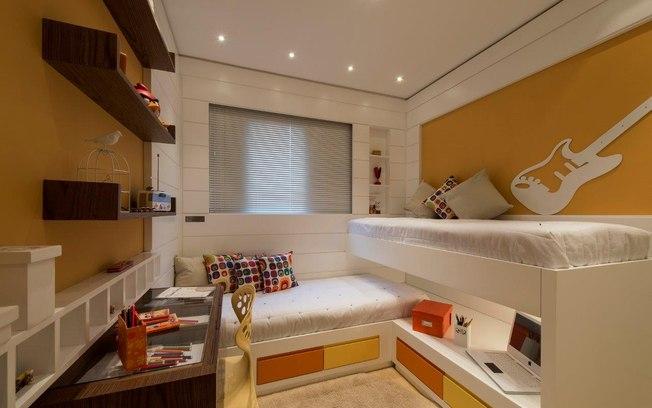 Modelos de camas para quarto de adolescentes Decorando Casas ~ Quarto Planejado Para Quarto Pequeno