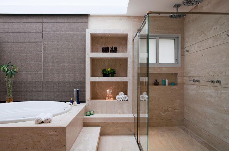 Revestimentos para banheiro eliane  Decorando Casas -> Banheiro Decorado Com Revestimento Eliane