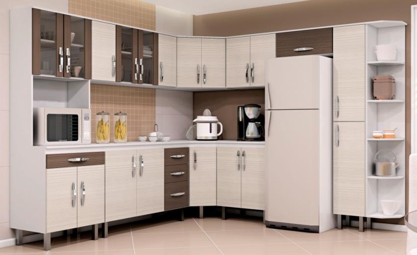 Modelos de armários de canto para cozinha  Decorando Casas # Armario De Cozinha Com Armario De Canto