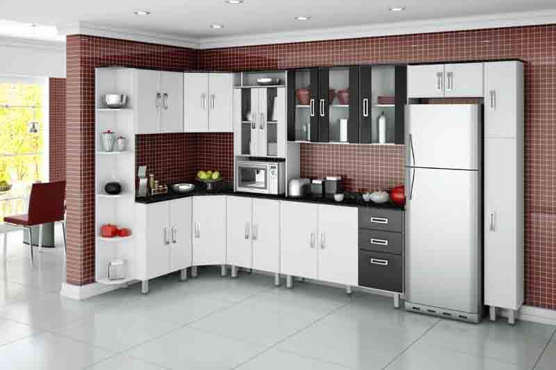 #474315 Modelos de armários de canto para cozinhaDecorando Casas 800x533 px Armario De Cozinha Em L #3004 imagens