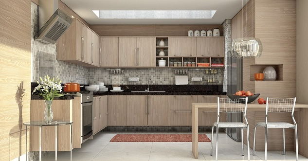 Dicas de armários de cozinha planejados Decorando Casas