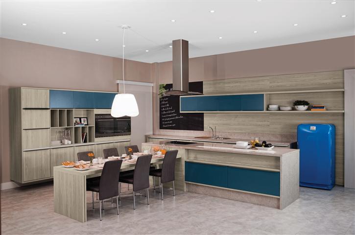 Dicas de armários de cozinha planejados  Decorando Casas # Armario De Cozinha Planejado Azul