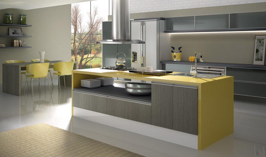 Armário de cozinha planejado com balcão  Decorando Casas # Quanto Custa Um Armario De Cozinha Planejado Pequeno