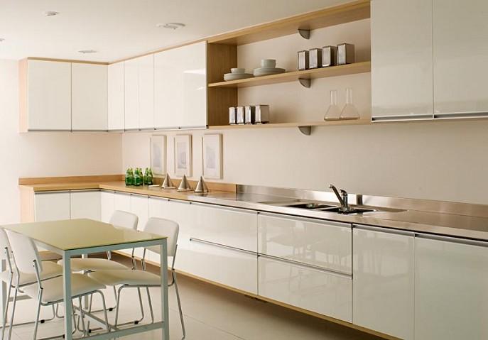 Armário de cozinha planejado com balcão  Decorando Cas # Armario De Cozinha Planejado Em U