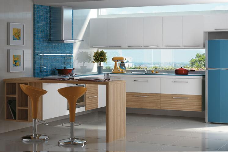 Armarios de cozinha planejados dellano : Arm?rio de cozinha planejado com balc?o decorando casas