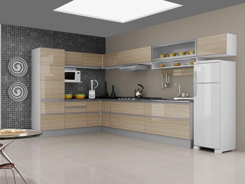 Modelos de arm rios de canto para cozinha decorando casas - Modelos de armarios ...