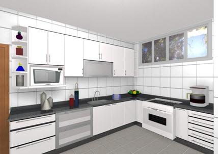 Azulejo Para Cozinha Pequena E Moderna Decorando Casas
