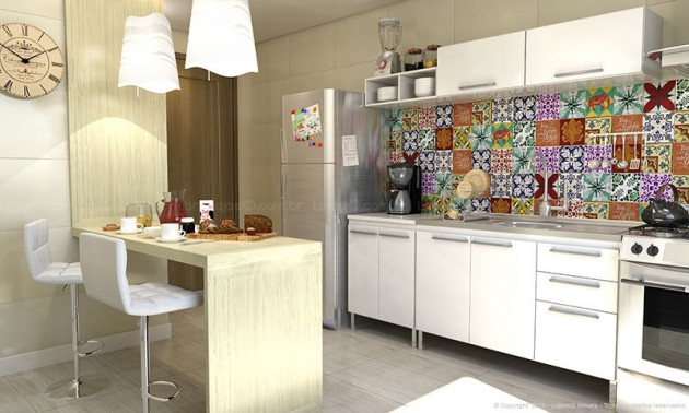 Azulejo para cozinha preço e fotos  Decorando Casas # Azulejo Para Cozinha Simples