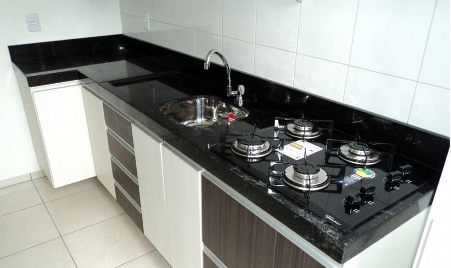 Balcão de cozinha planejado e moderno – Fotos  Decorando Casas # Cozinha Pequena Com Duas Cubas