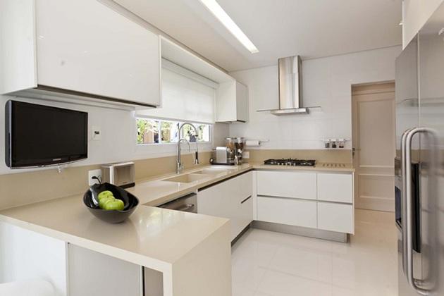 Bancada de cozinha em porcelanato decorando casas - Bancadas de cocina ...