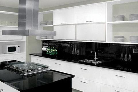 Fotos de cozinhas planejadas preta e branca: