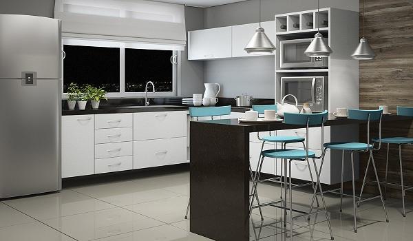 Armario Giratorio Cocina ~ Cozinhas planejadas em l u2013 Dicas e Fotos Decorando Casas