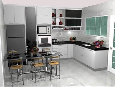 Cozinhas em l com janela