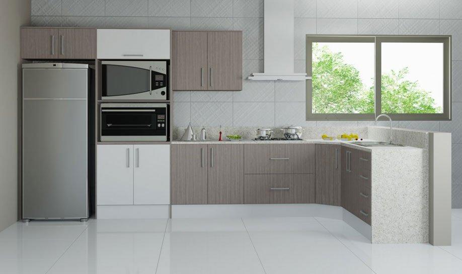 Cozinhas planejadas em l – Dicas e Fotos  Decorando Casas # Cozinha Pequena Em L